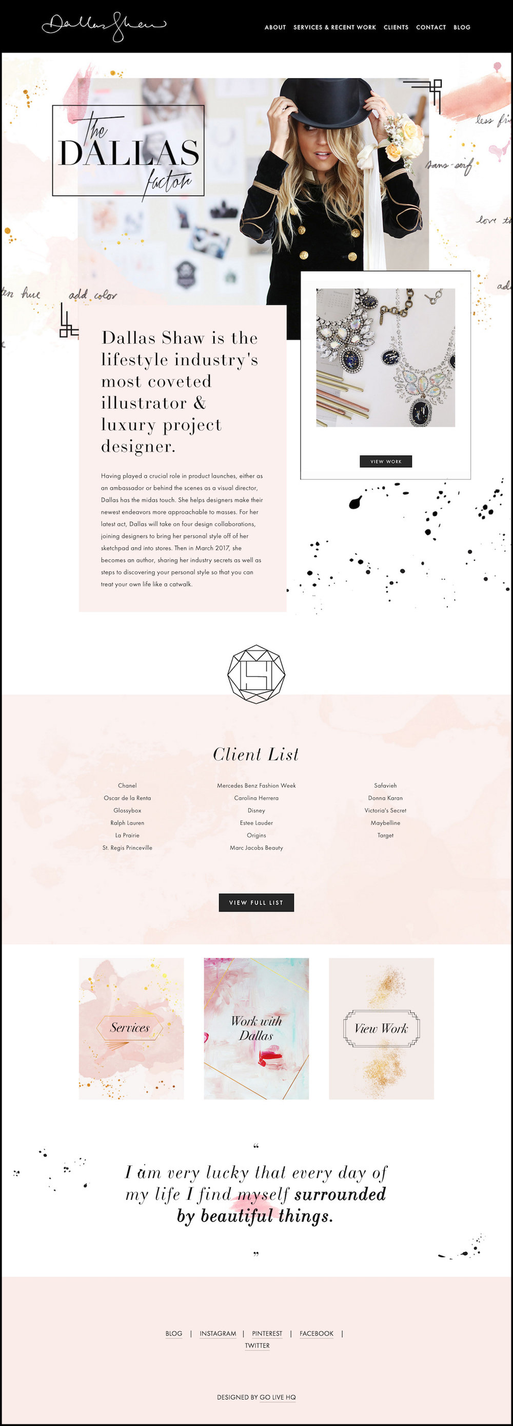 10 best example squarespace websites feminine edition paige business fashion illustrator template custom with the developer platform design studio go live hq fbccfo Gallery