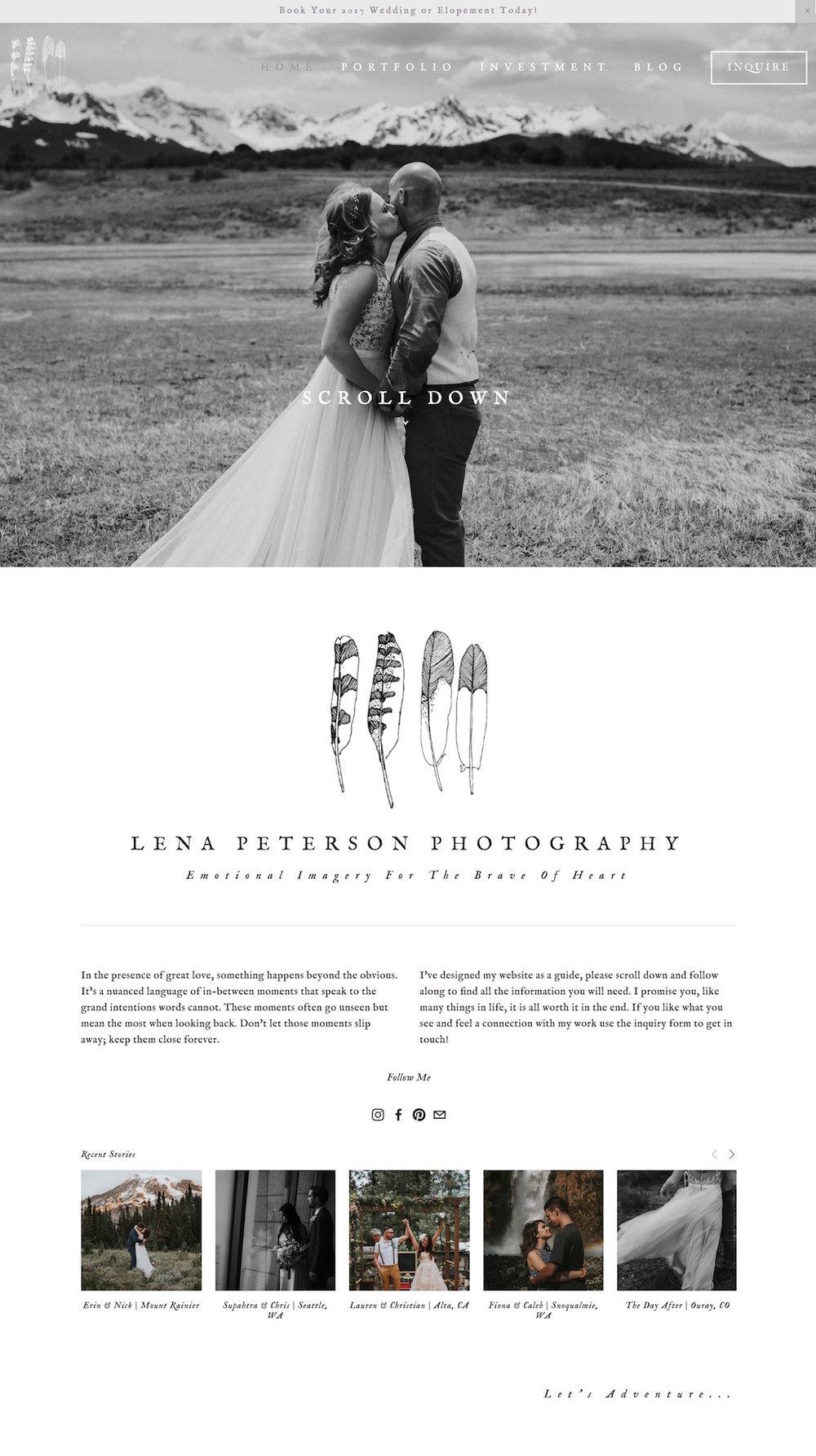 Best Example Squarespace Websites Photographer Edition Paige - Best squarespace template for photographers