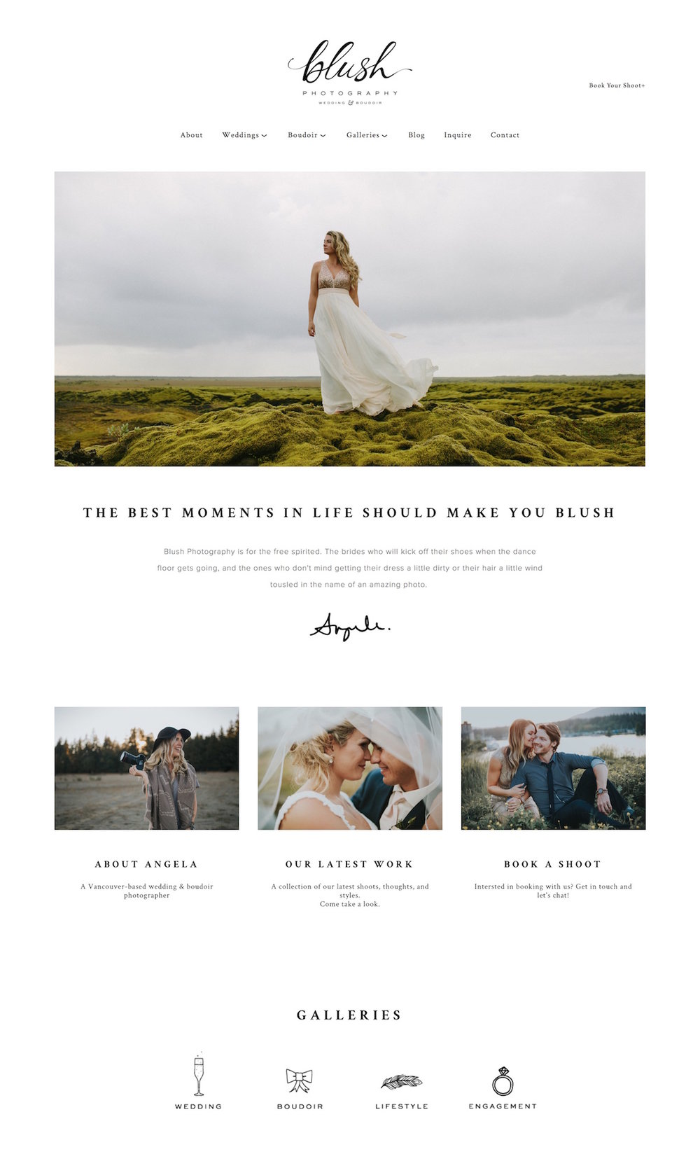 10 best example squarespace websites photographer edition paige