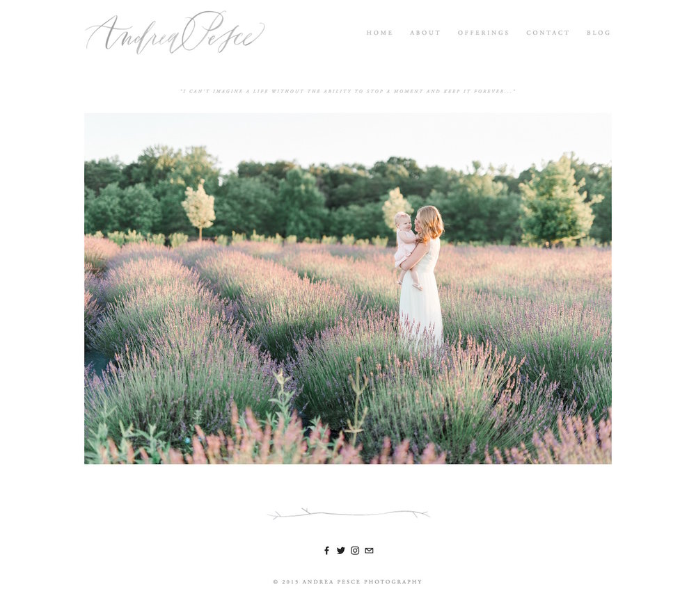 clean and minimalistic Squarespace website design by Andrea Pesee photography.jpg