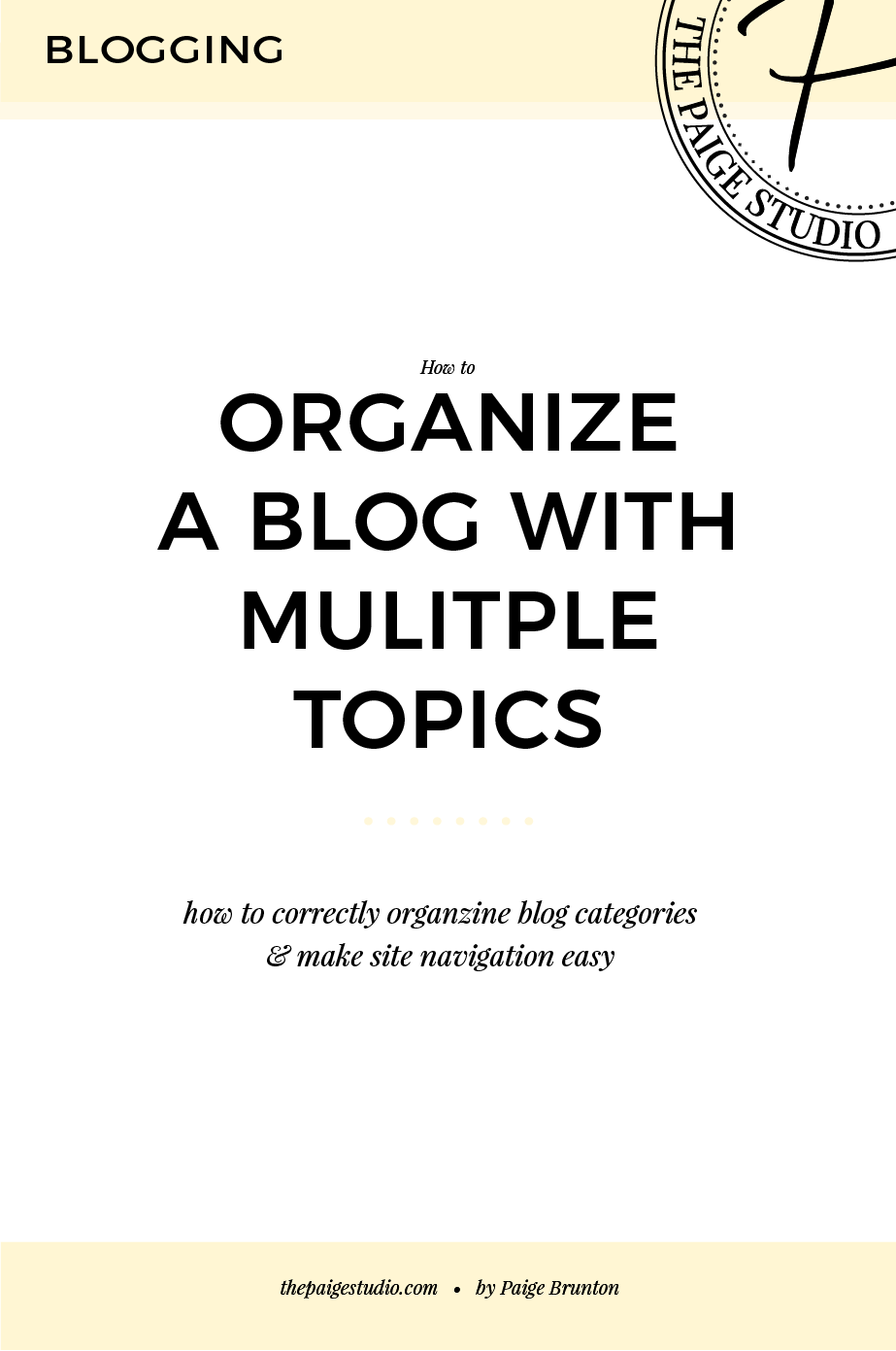 Should I Create 1 Squarespace Blog Or Multiple For Different Topics?