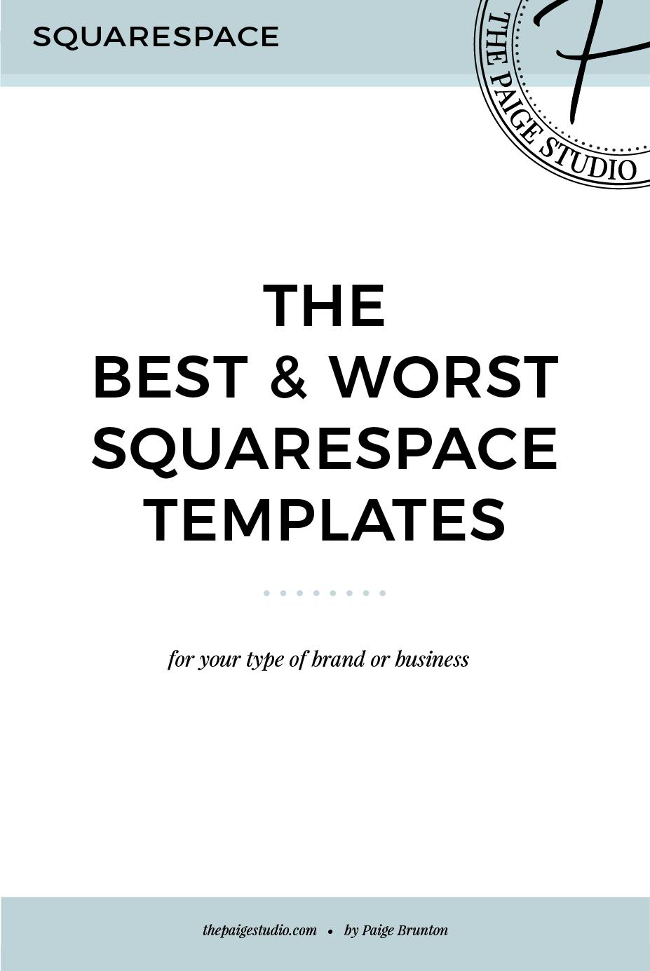 the best worst squarespace templates paige brunton. Black Bedroom Furniture Sets. Home Design Ideas
