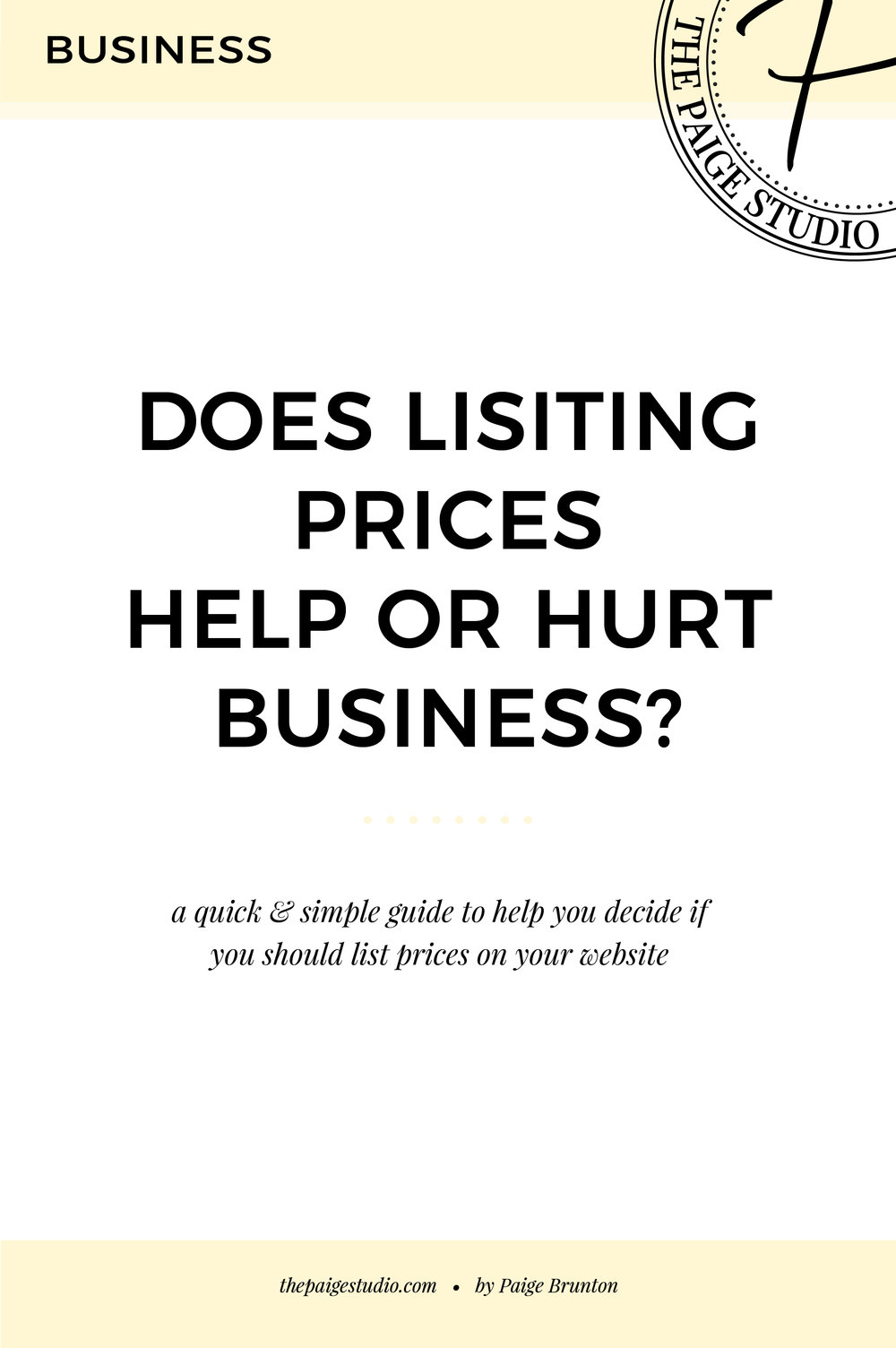 A simple guide; determining if you should list prices on your website or not?