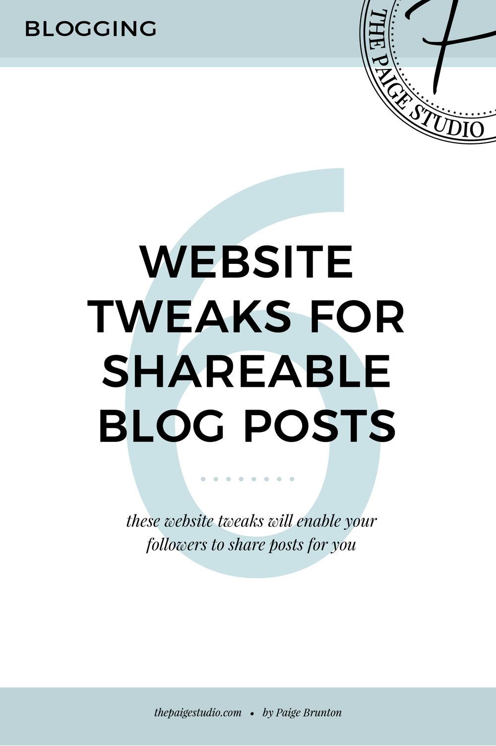 6 website tweaks for super-shareable blog posts — Paige Brunton ...