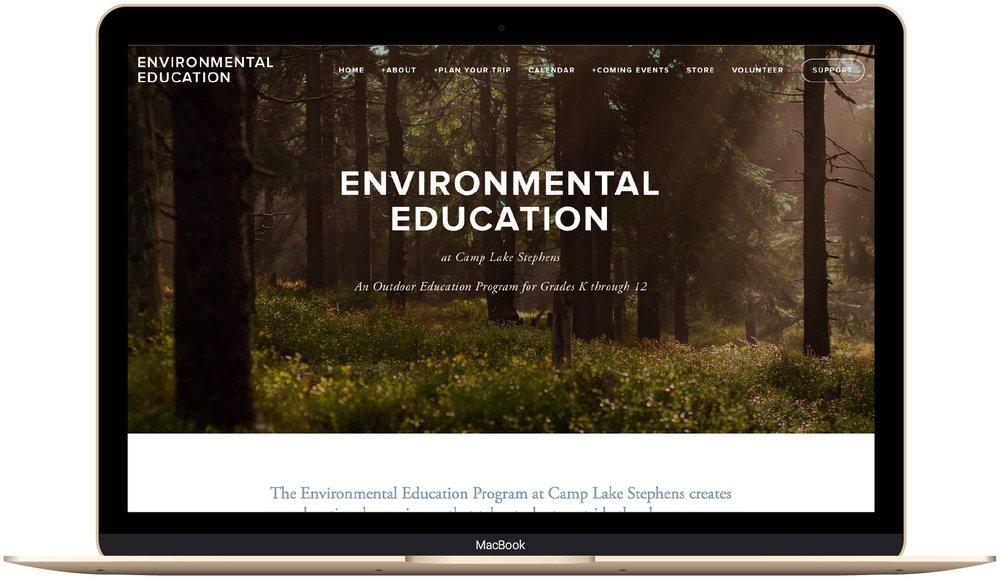 Environmental educatio Camp Lake Stephens website design by The Paige Studio.jpg