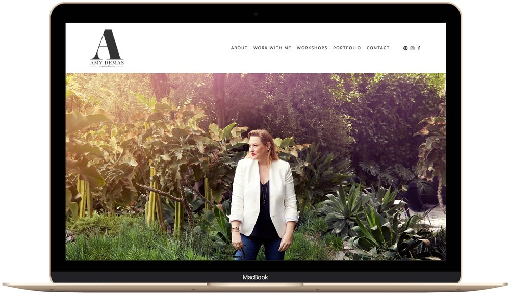 Squarespace website design for Amy Demas by The Paige Studio.jpg