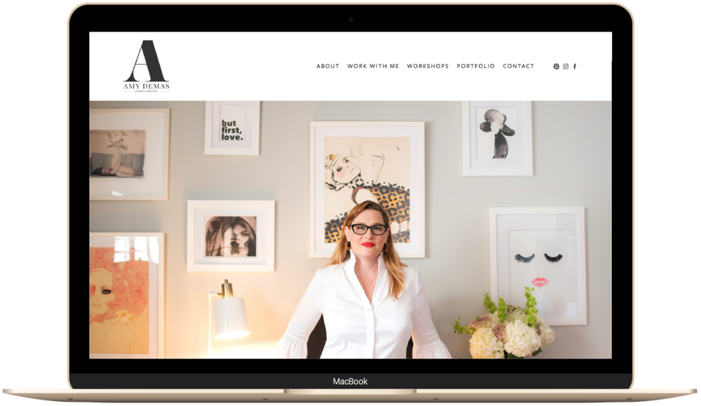 Feminine and elegant Squarespace website design example.png