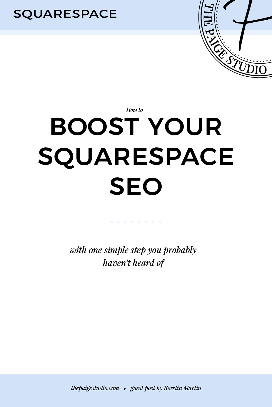 Boost your Squarespace SEO with one simple step that you probably haven't heard of!