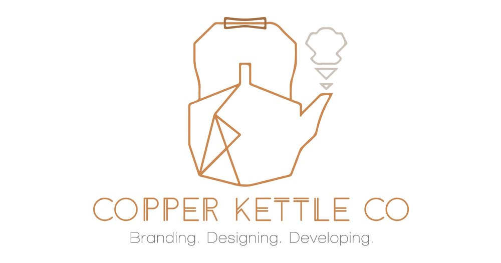 copper kettle co branding and web design