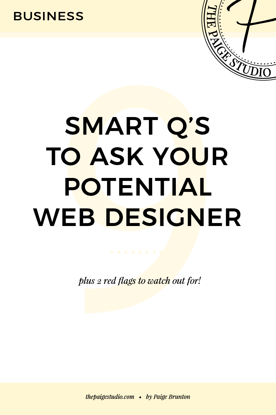 9 smart questions to ask your potential website designer