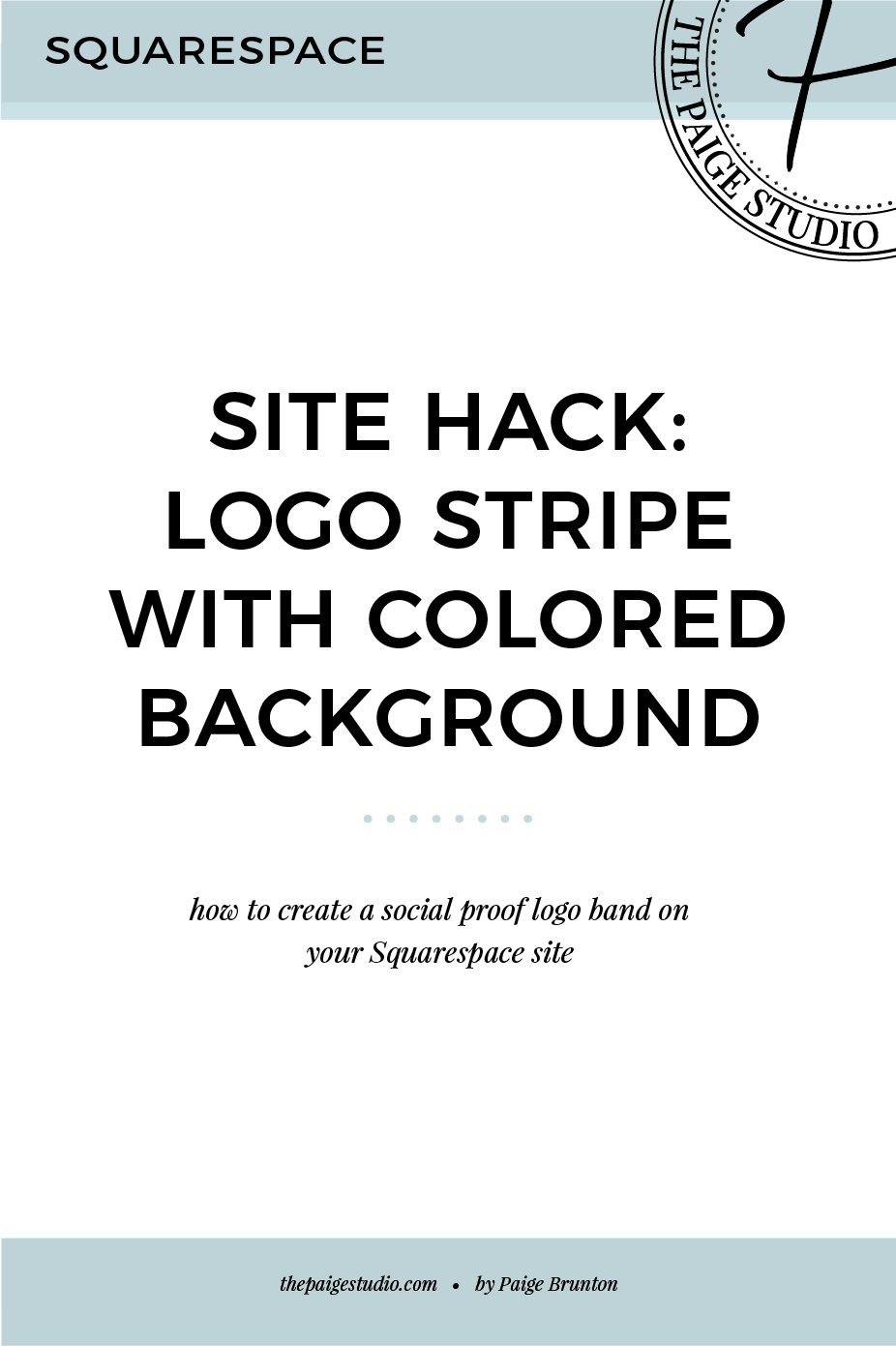 Squarespace hack: How to build a colored page section with