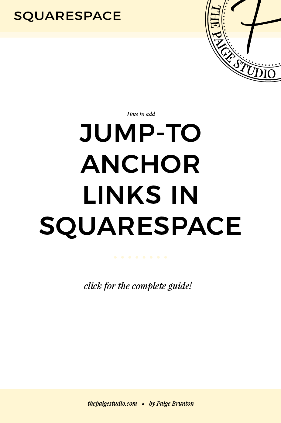 Squarespace hack: How to add jump to anchor links on a page — Paige