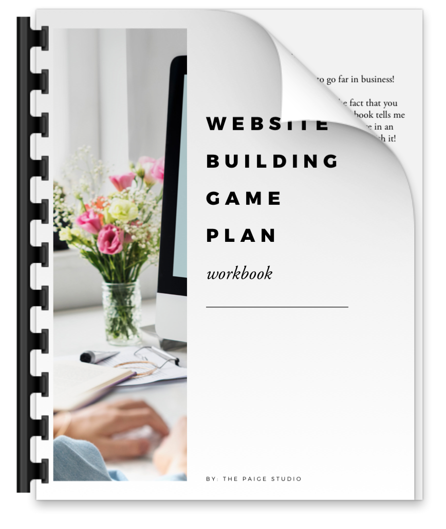 Website building game plan workbook from The Paige Studio.png
