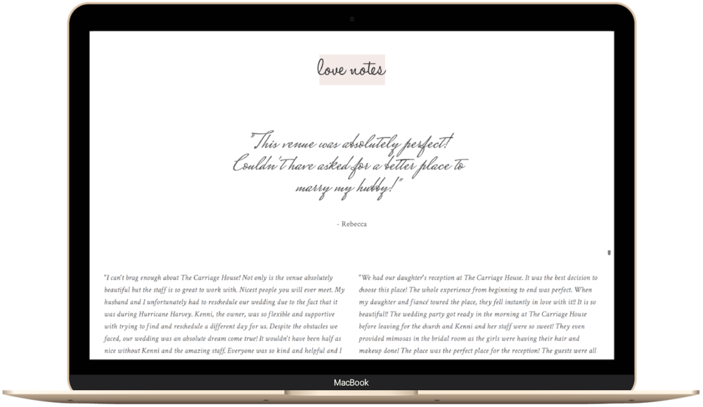 squarespace website example for a wedding venue.png