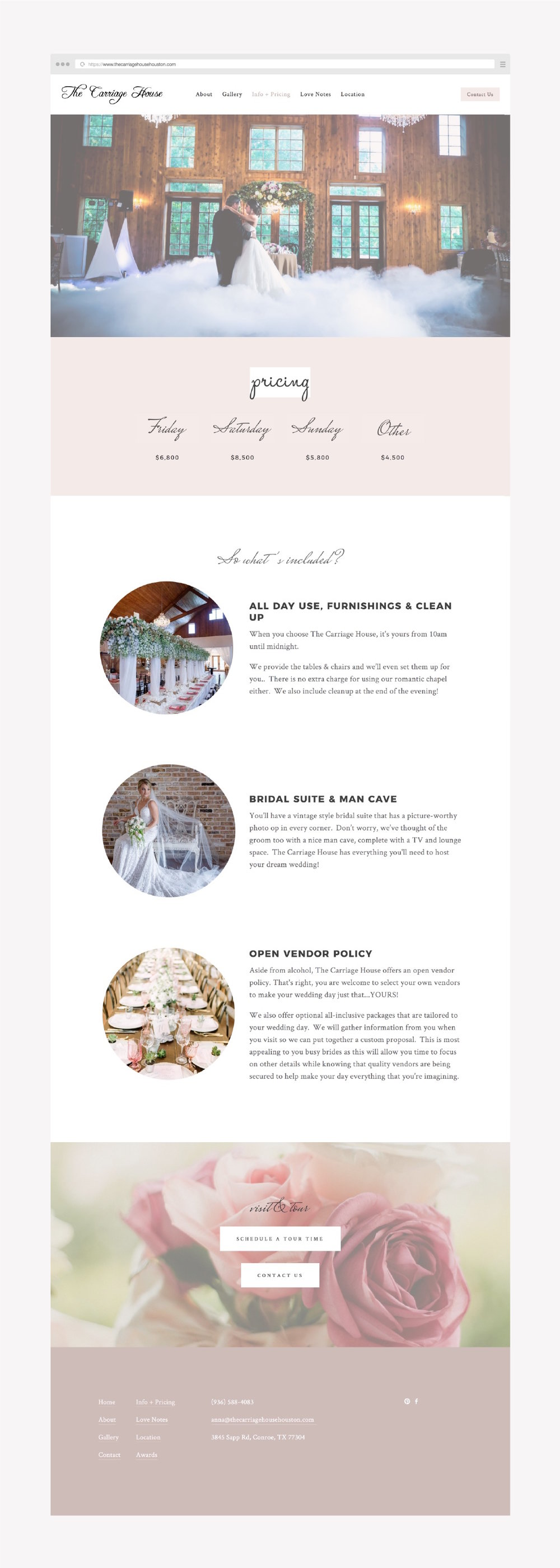 feminine pink website design for a wedding vendor built on squarespace or showit.jpg