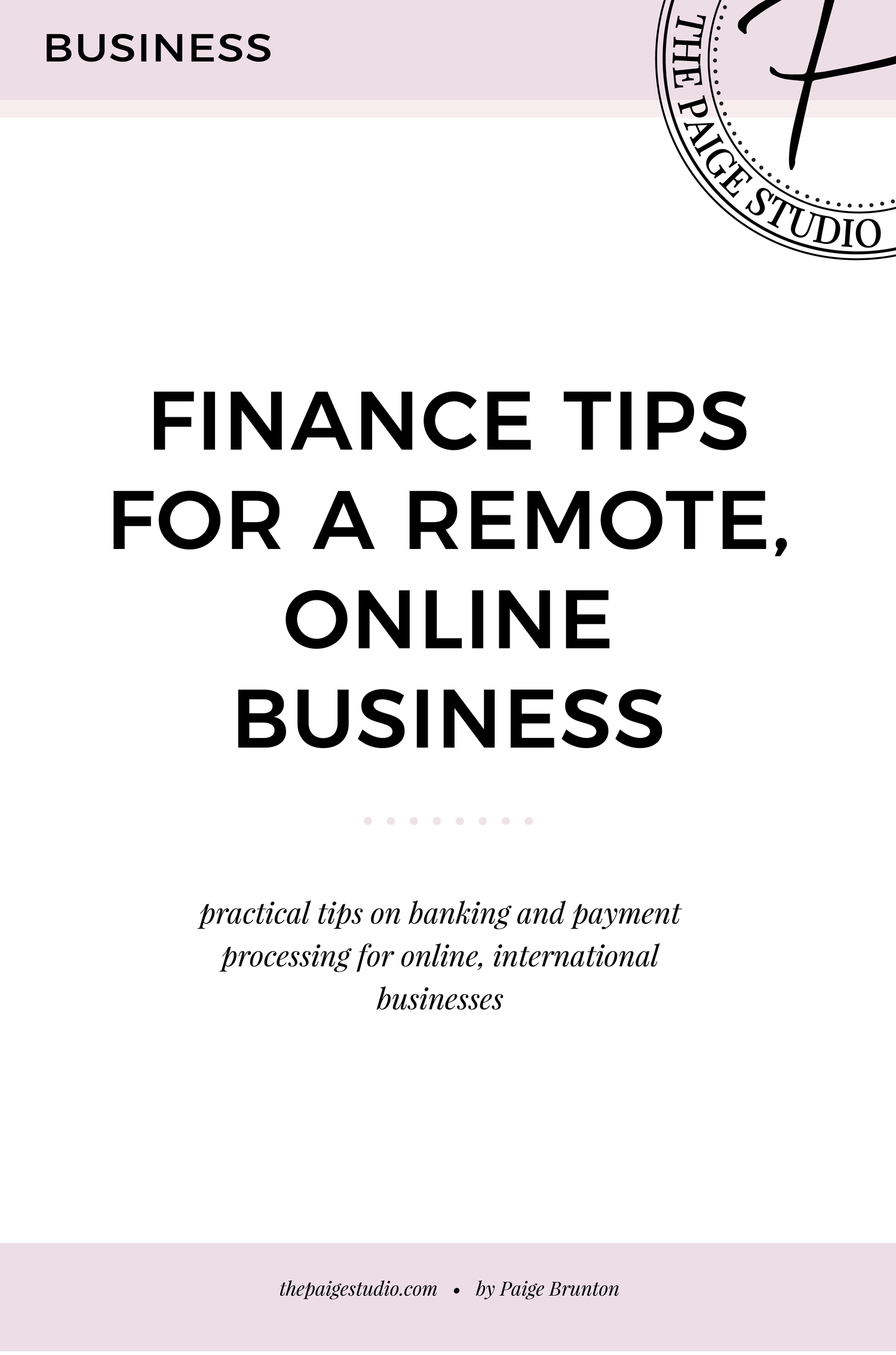 Finance, banking & payment processing tips for a completely remote