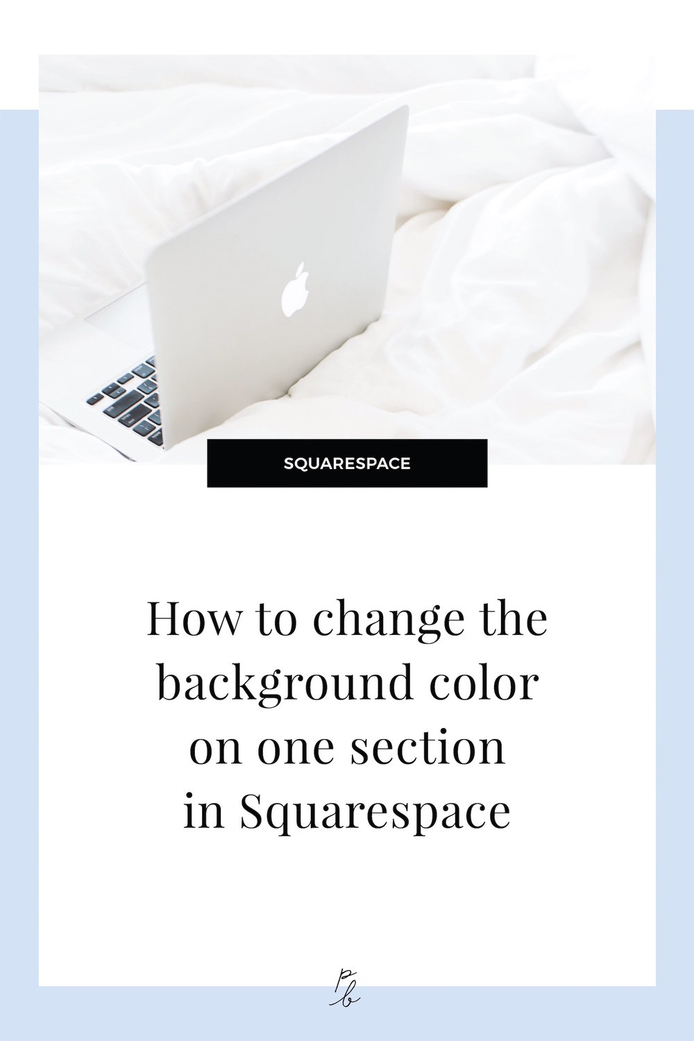 How to change the content background color on one individual page or section in Squarespace