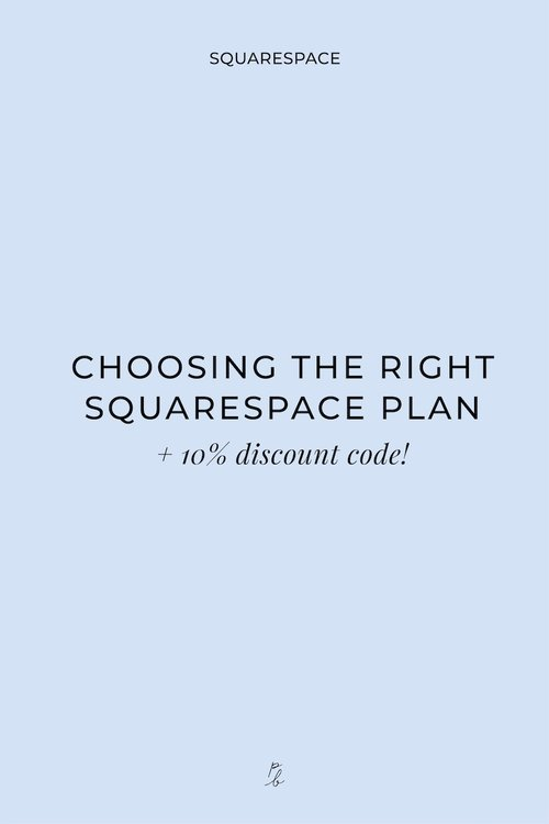 Choosing the right Squarespace plan
