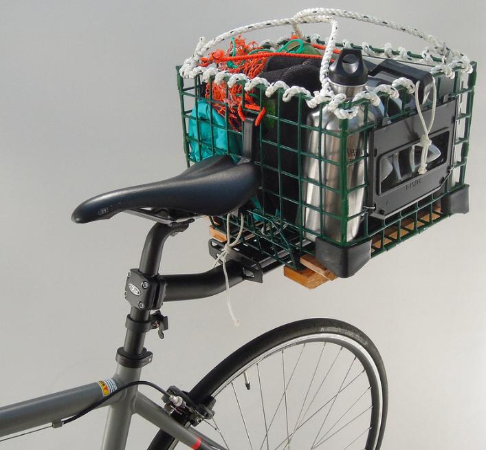 Lobster trap bike basket