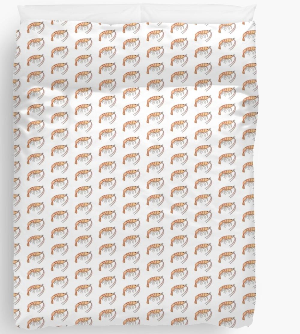Prawn duvet cover