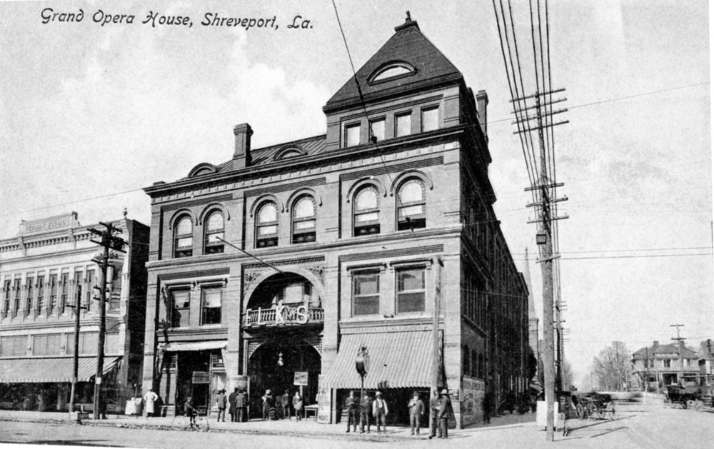 The Grand Opera House at 400 Texas St. showed the first movie ever screened in Shreveport, a short film of a bullfight, on December 22, 1896.  Credit: Courtesy of LSU-Shreveport Archives and Special Collections, Noel Memorial Library, Louisiana State University, Shreveport, LA