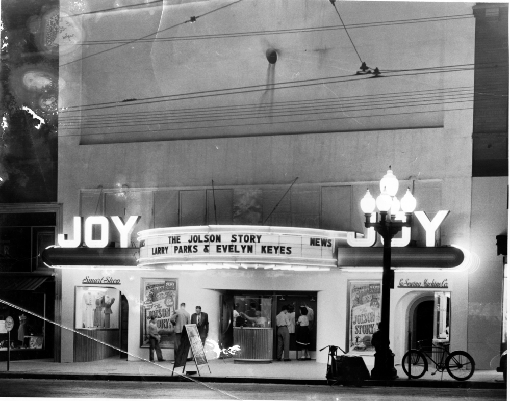 The Joy operated at 623 Texas St., right next door to where the Robinson Film Center is today. These days, the building still sees a lot of business as On Time Fashion.   Credit: Courtesy of LSU-Shreveport Archives and Special Collections, Noel Memorial Library, Louisiana State University, Shreveport, LA
