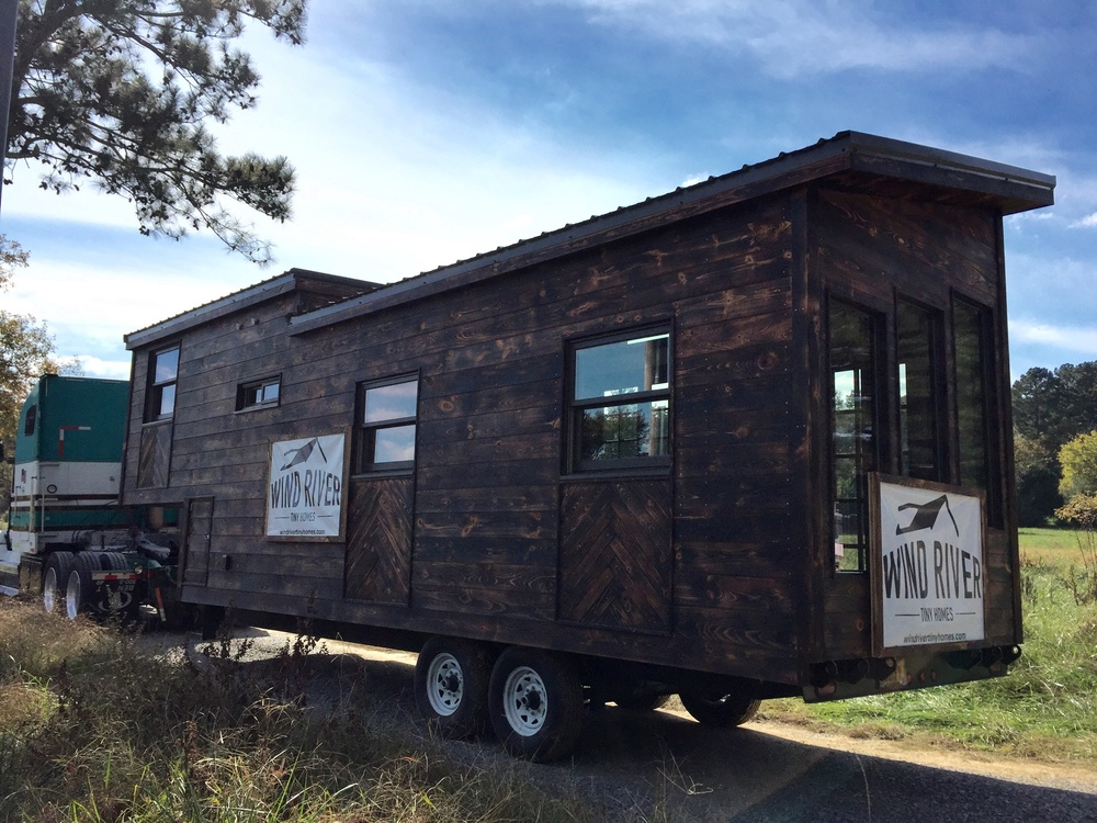 The Phoenix by Wind River Tiny Homes. Exterior. Charred Siding. Shou Sugi Ban.