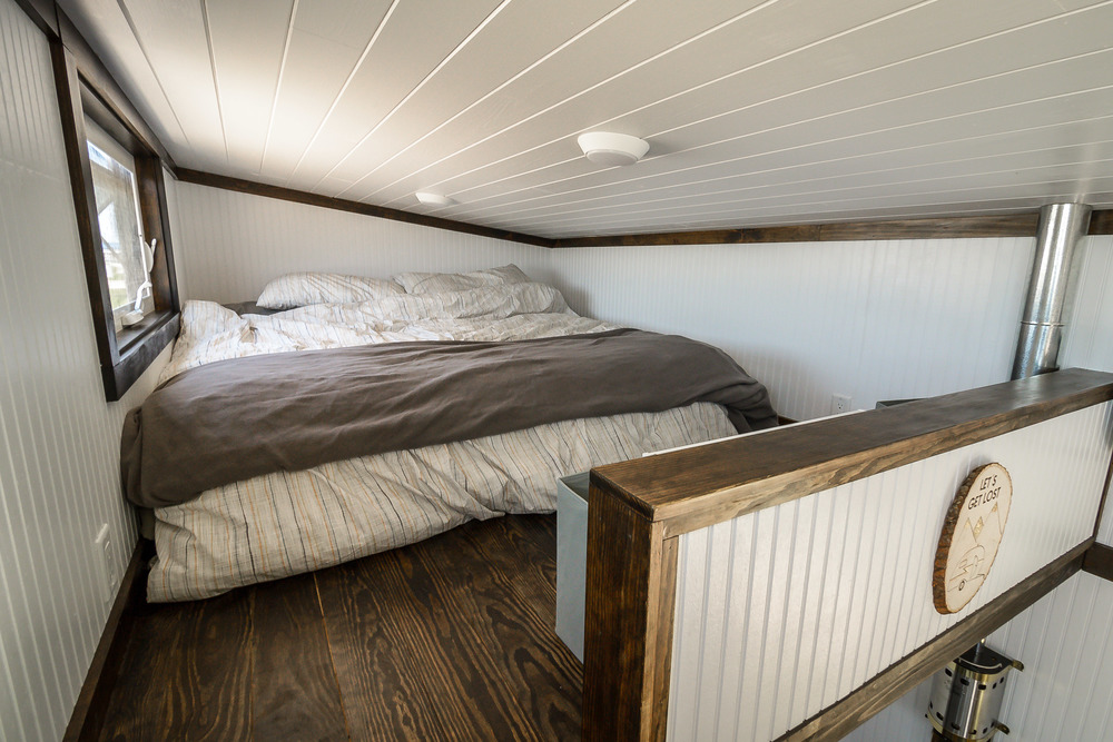 The Triton by Wind River Tiny Homes. Master Bedroom Loft.