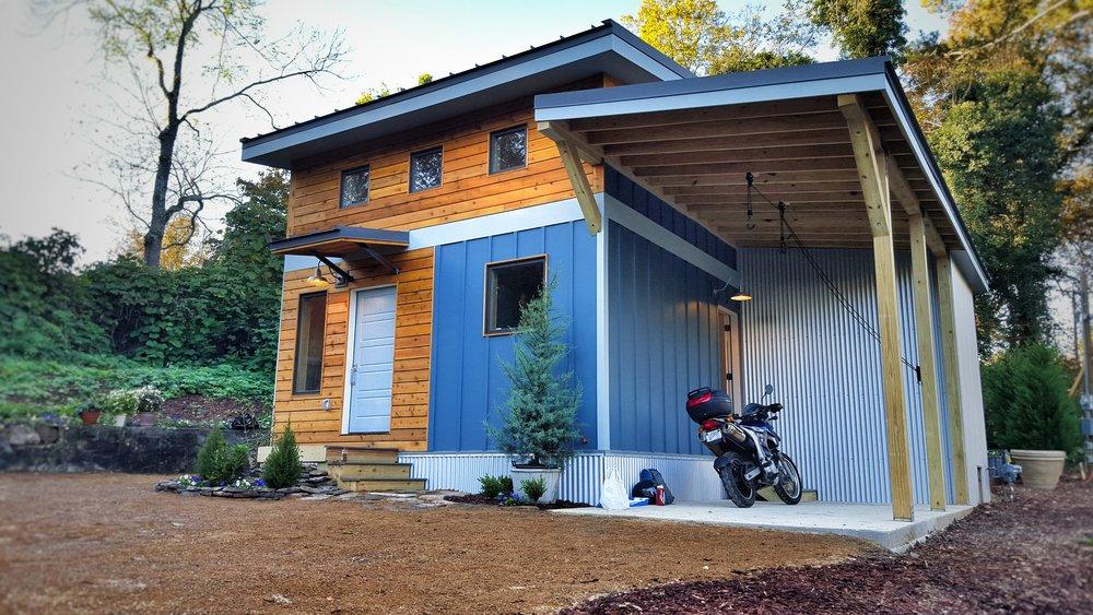 Urban Micro Home by Wind River Tiny Homes - cedar siding, cedar rainscreen, contemporary design, rustic design