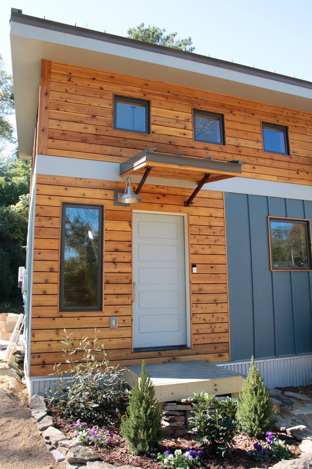 Urban Micro Home by Wind River Tiny Homes - cedar siding, cedar rainscreen, contemporary design, rustic design