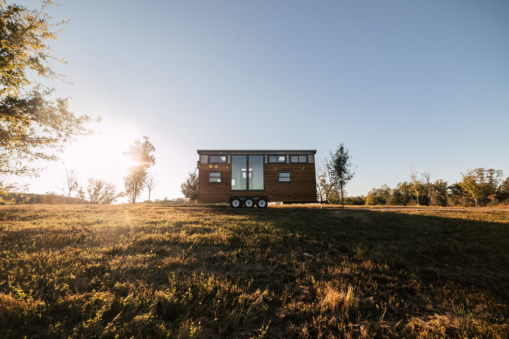 The Silhouette by Wind River Tiny Homes - rustic, cedar siding, patina steel clad siding, custom tiny homeThe Silhouette by Wind River Tiny Homes - rustic, cedar siding, patina steel clad siding