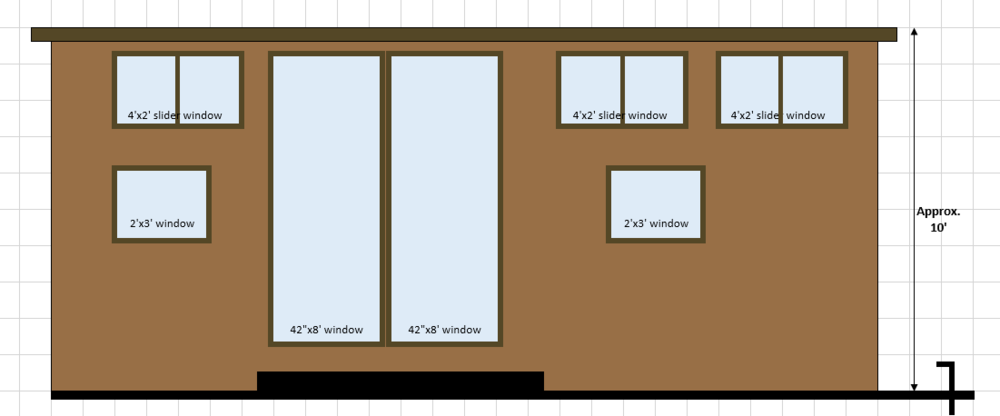 Example of a floor plan elevation