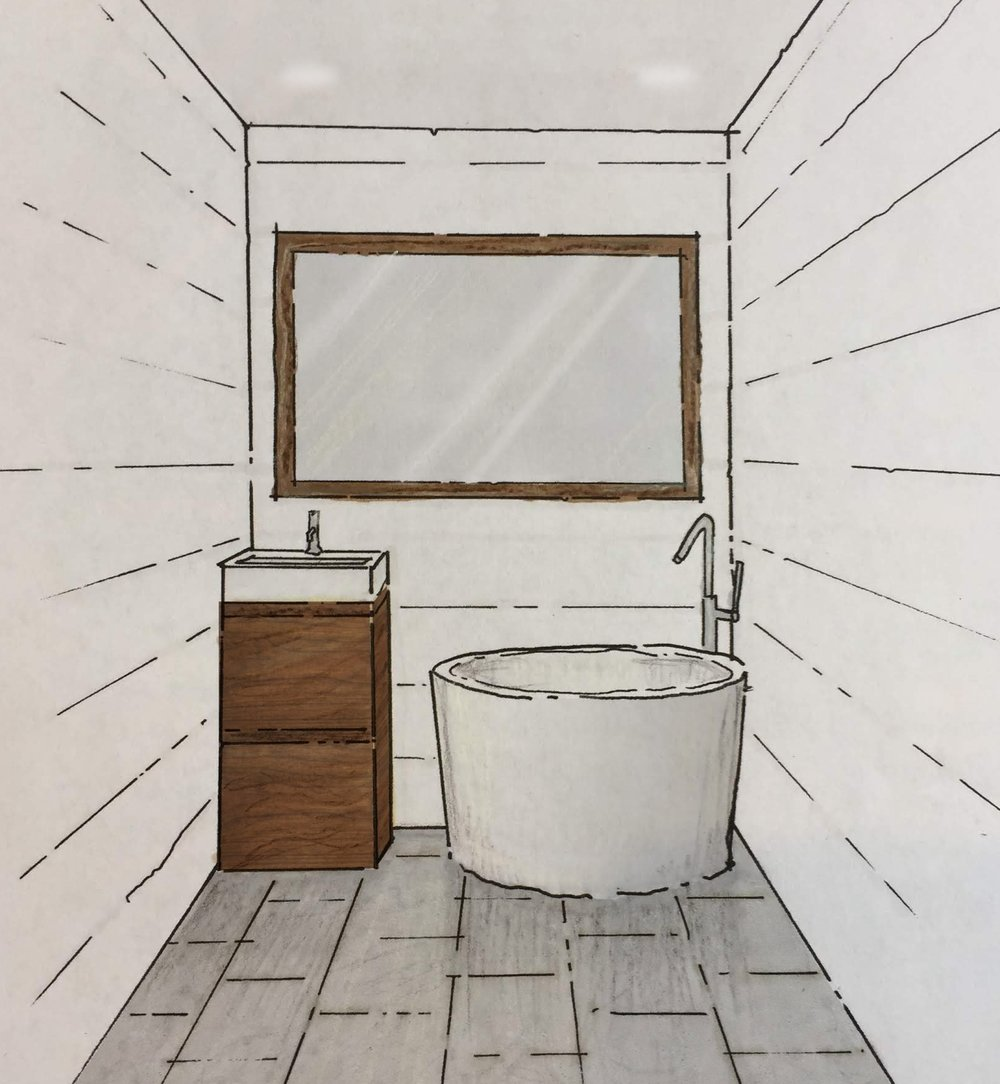 #5 - Japanese style soaking tub? Get the therapeutic benefits of a bath with a smaller footprint. We'd love to fit one of these in your custom tiny home.