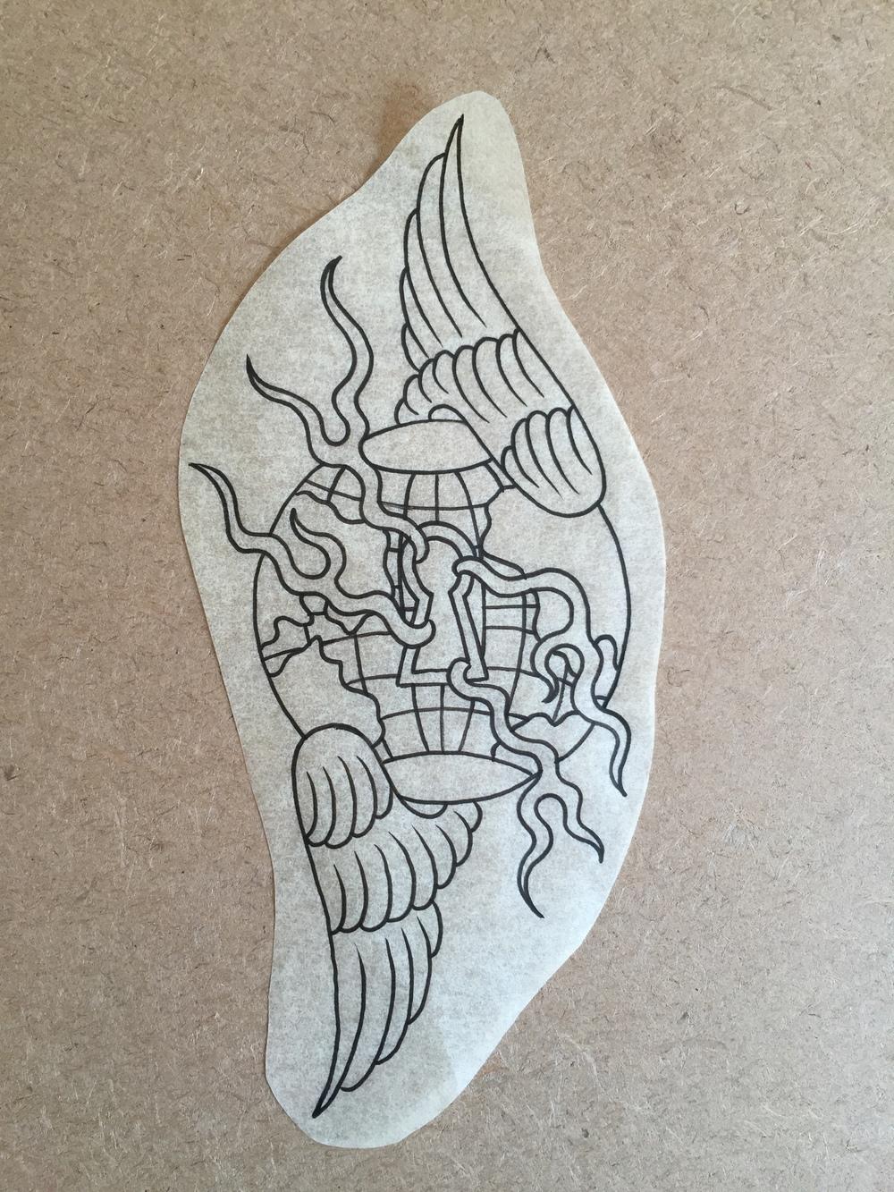 Winged Globe w/ Keyhole