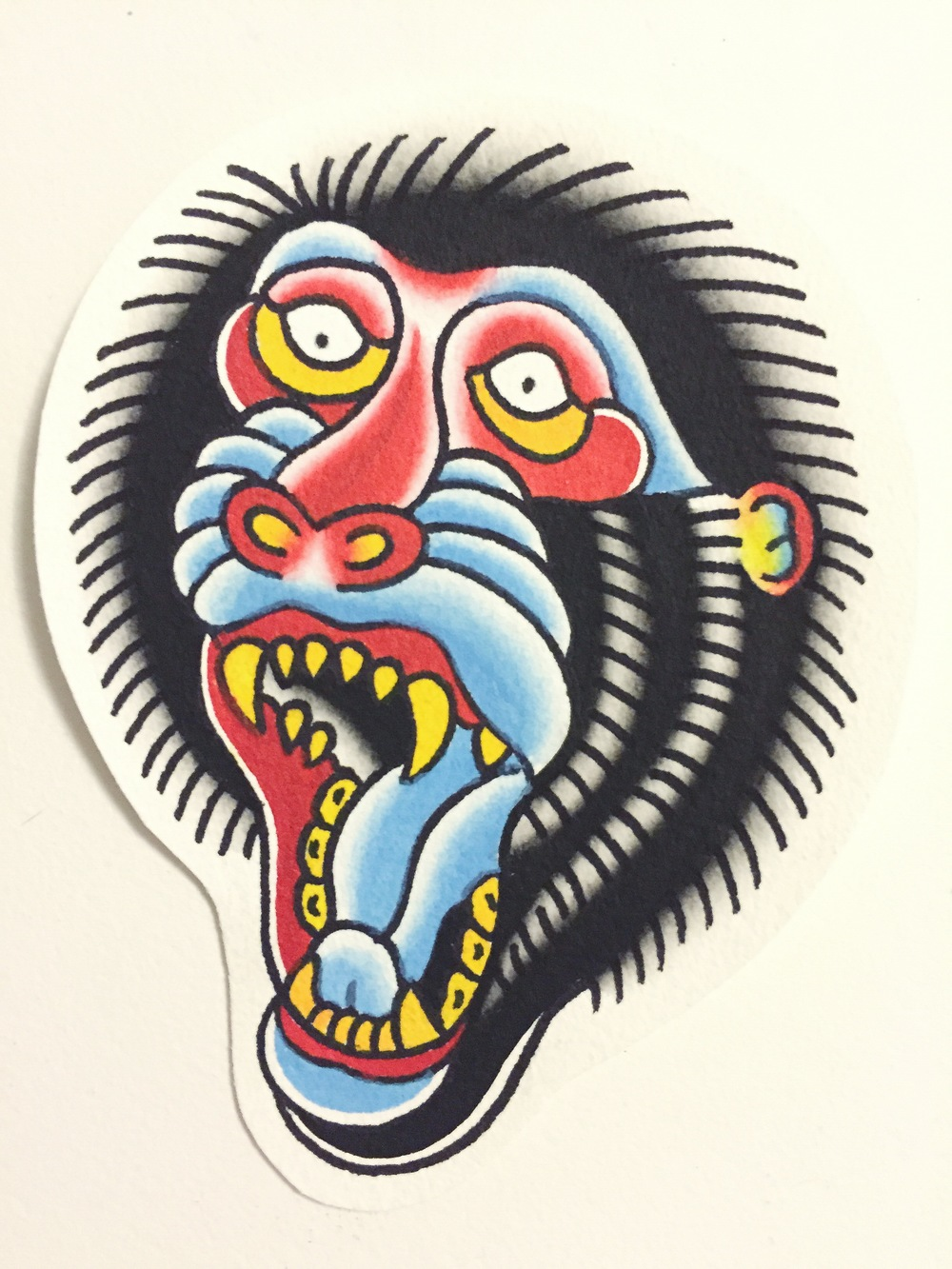 BABOON(painting comes with tattoo)