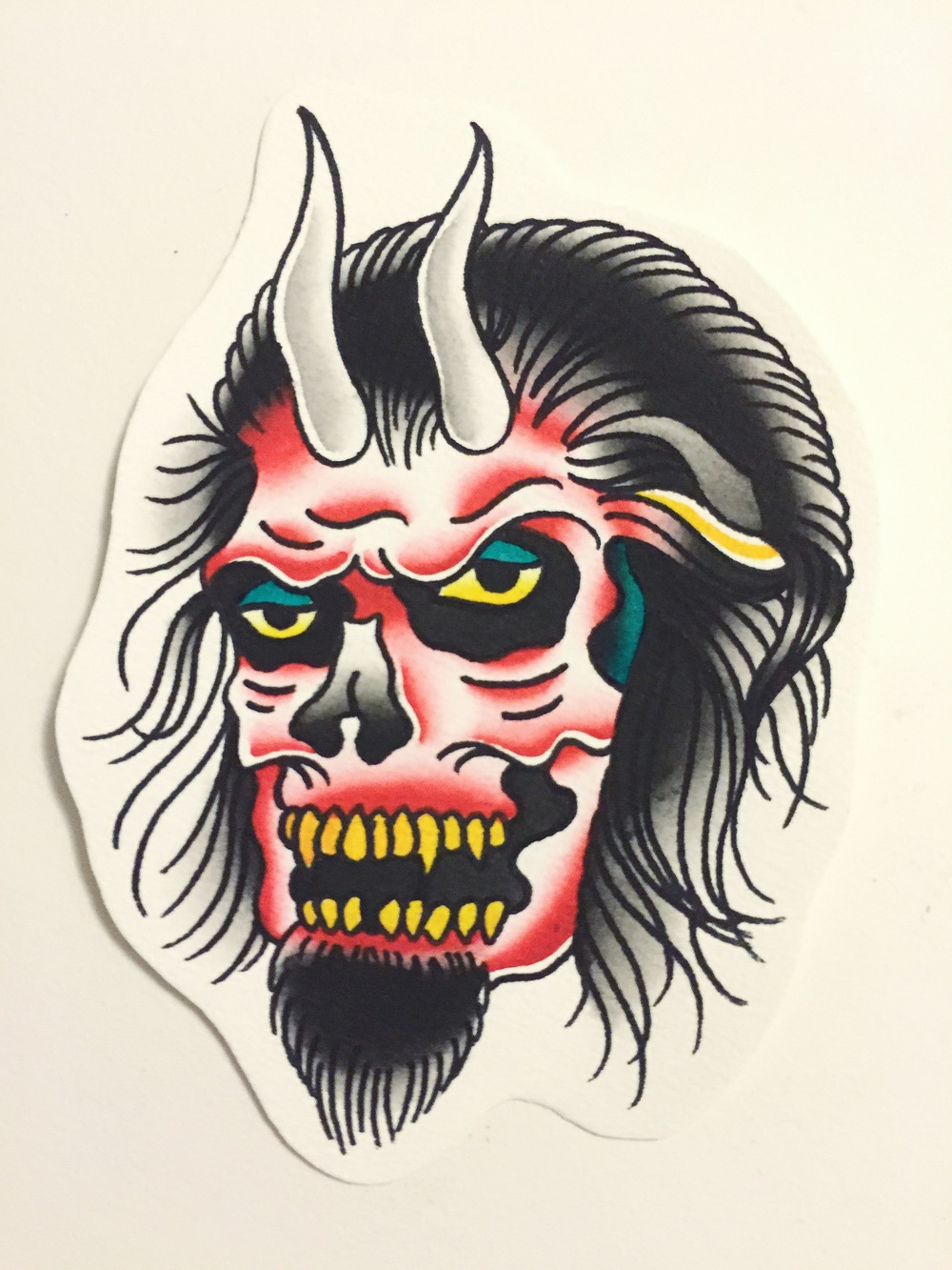 CREEPY DEVIL(painting comes with tattoo)