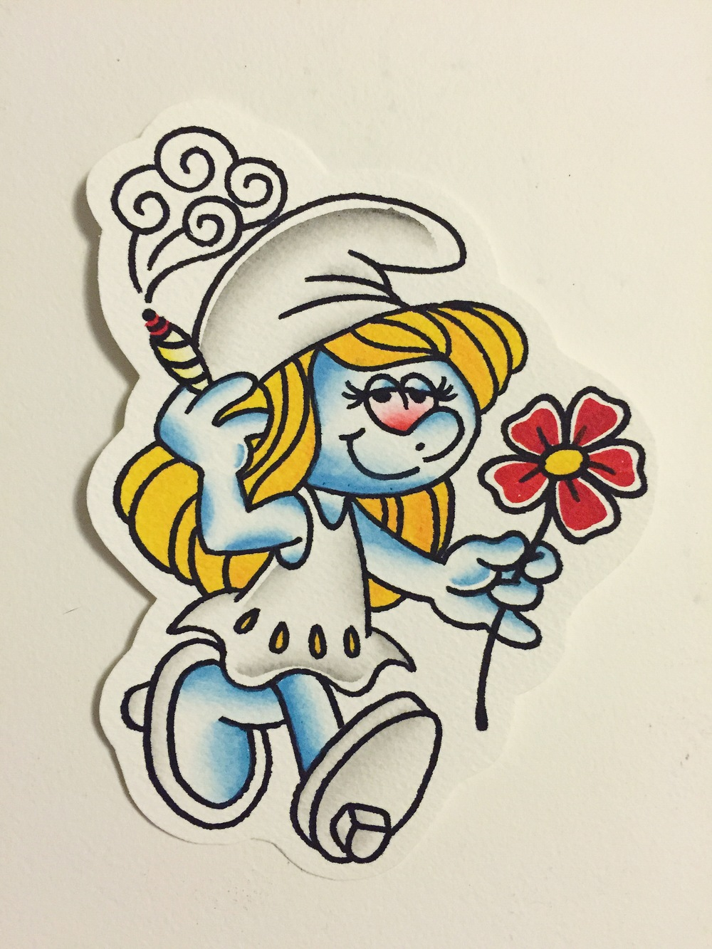 SMURFETTE(painting comes with tattoo)