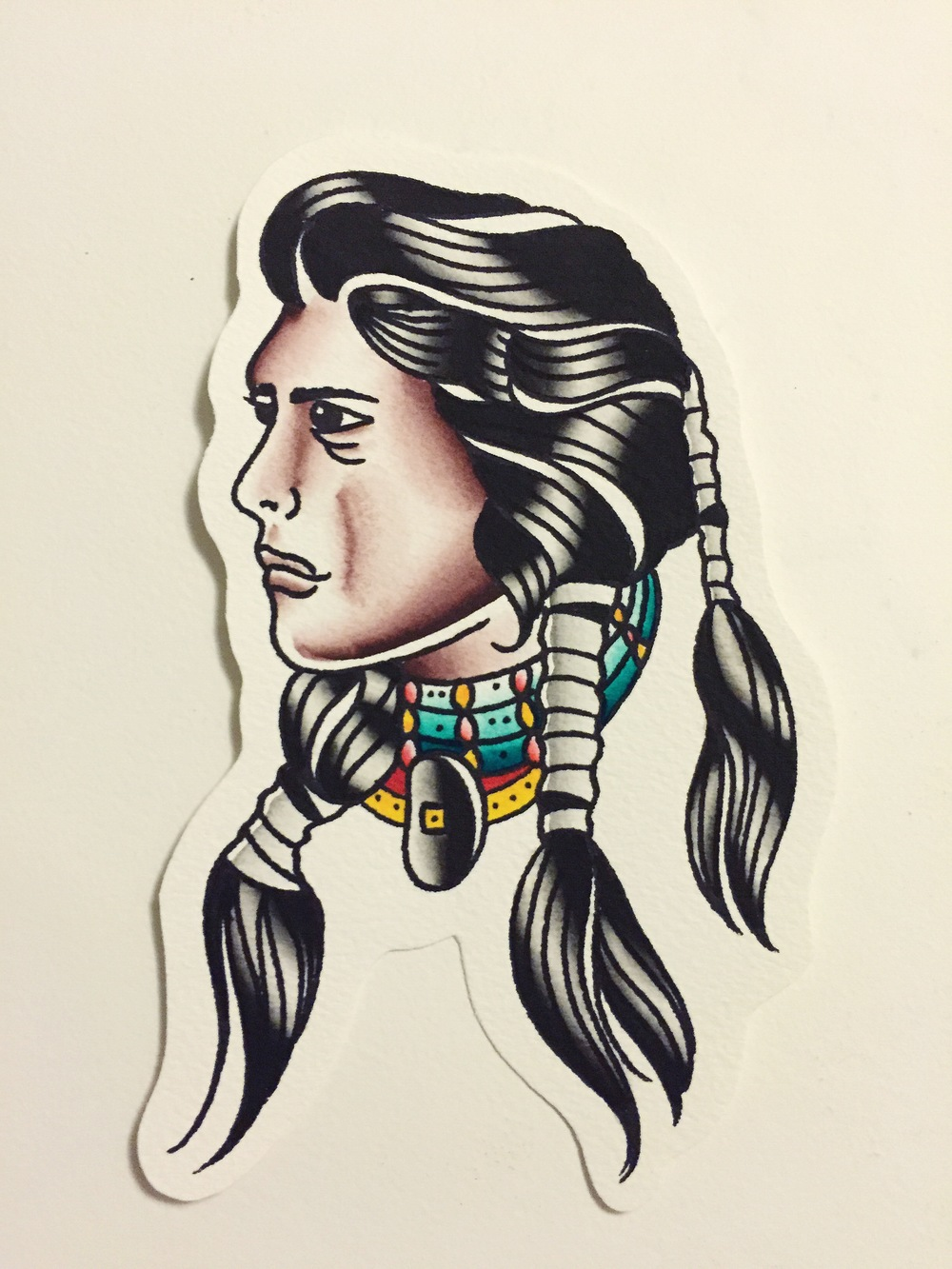 NATIVE AMERICAN(painting comes with tattoo)