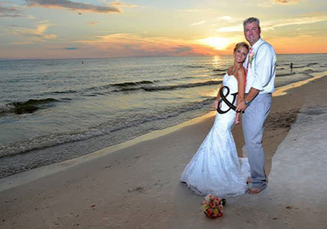 Married couple on Brohard Beach in Venice FL