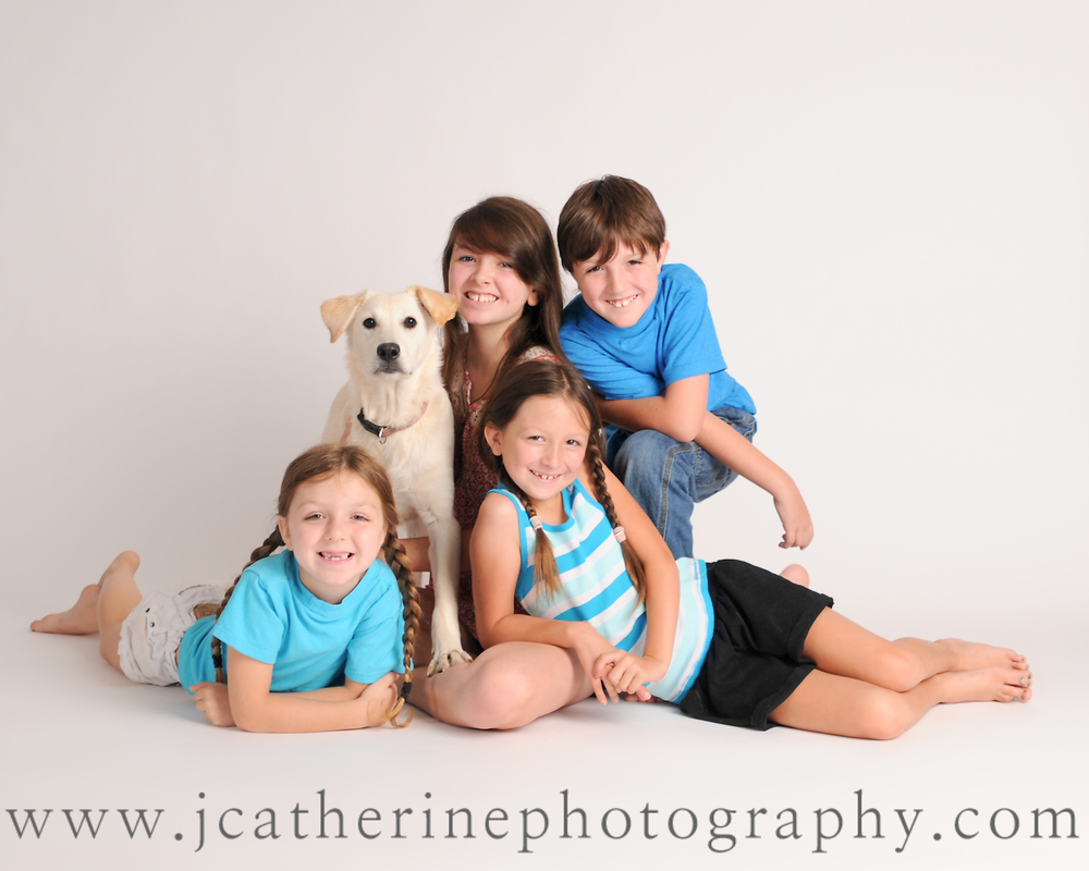 children and dog national dog day J Catherine Photography Greenville SC