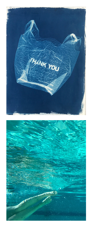 Jenna Meacham,  Untitled  (top),  Fear Itself  (bottom)