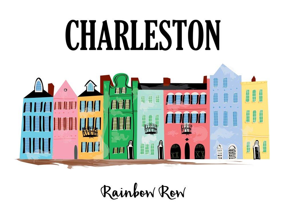 Charleston - Rainbow Row