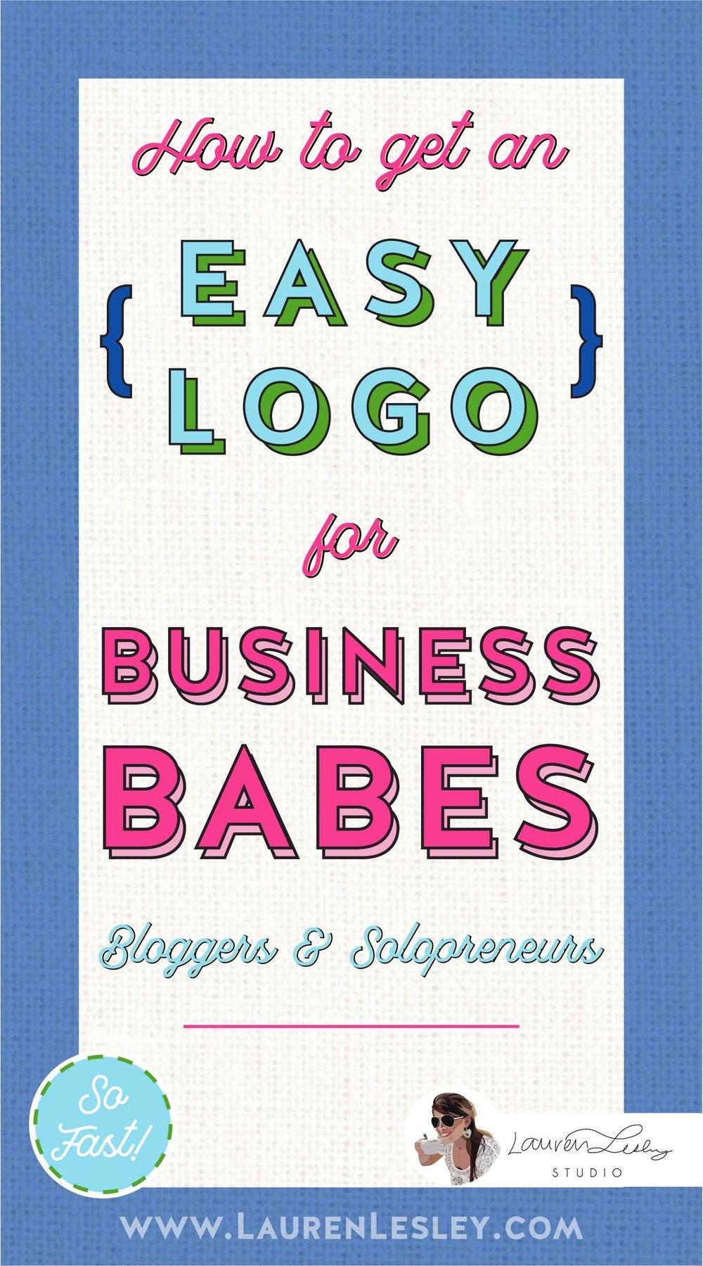 Hair Stylist Logo Entrepreneur Solopreneur Logo Business Babes