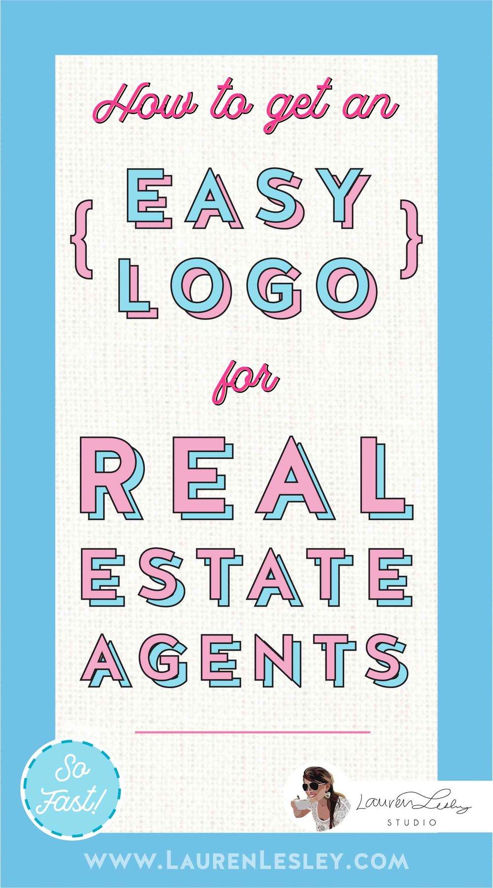 Real Estate Agent Marketing Logo