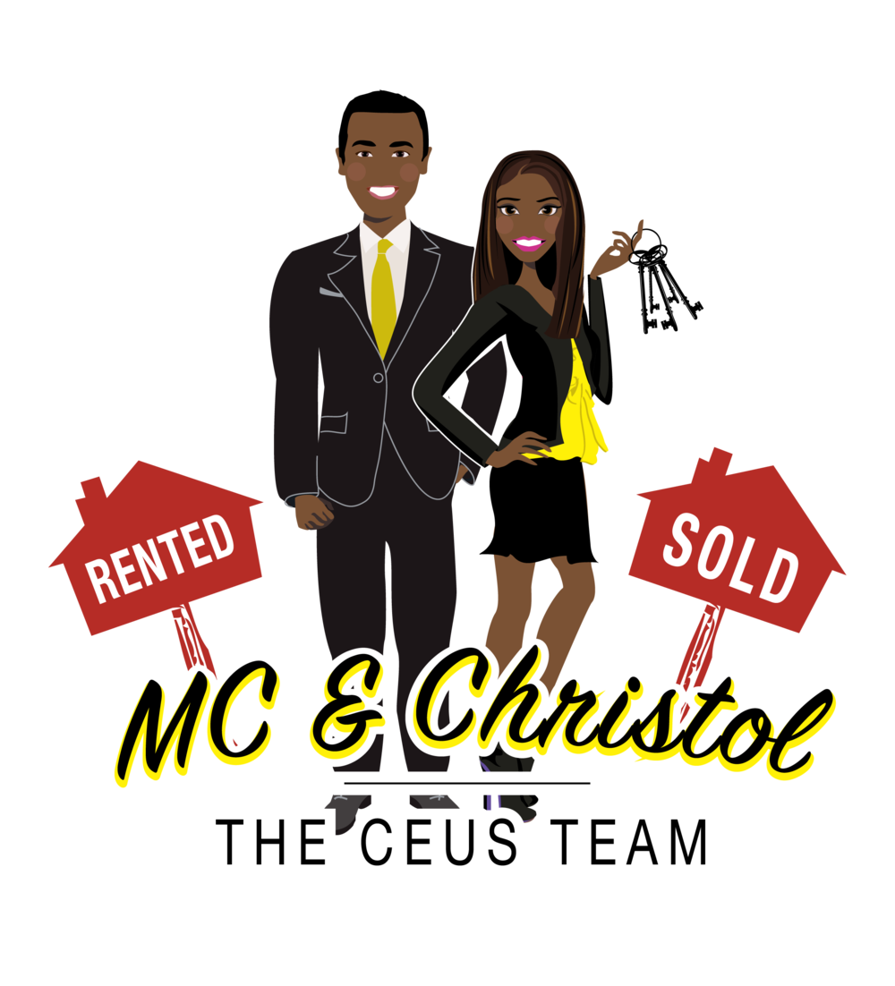 Final Design of Custom Portrait illustration - Here is the final design that Christol approved. It is a beautiful vector illustration of herself and her husband. This type of design works wonderfully as a logo for Real Estate Agents.