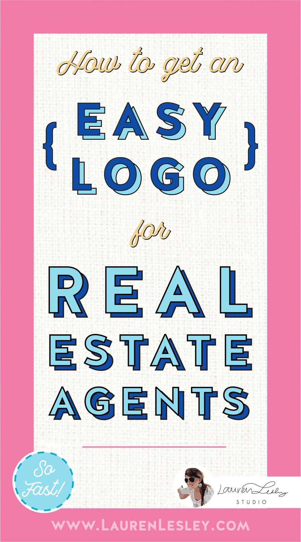Real Estate Agents Custom Logo Marketing
