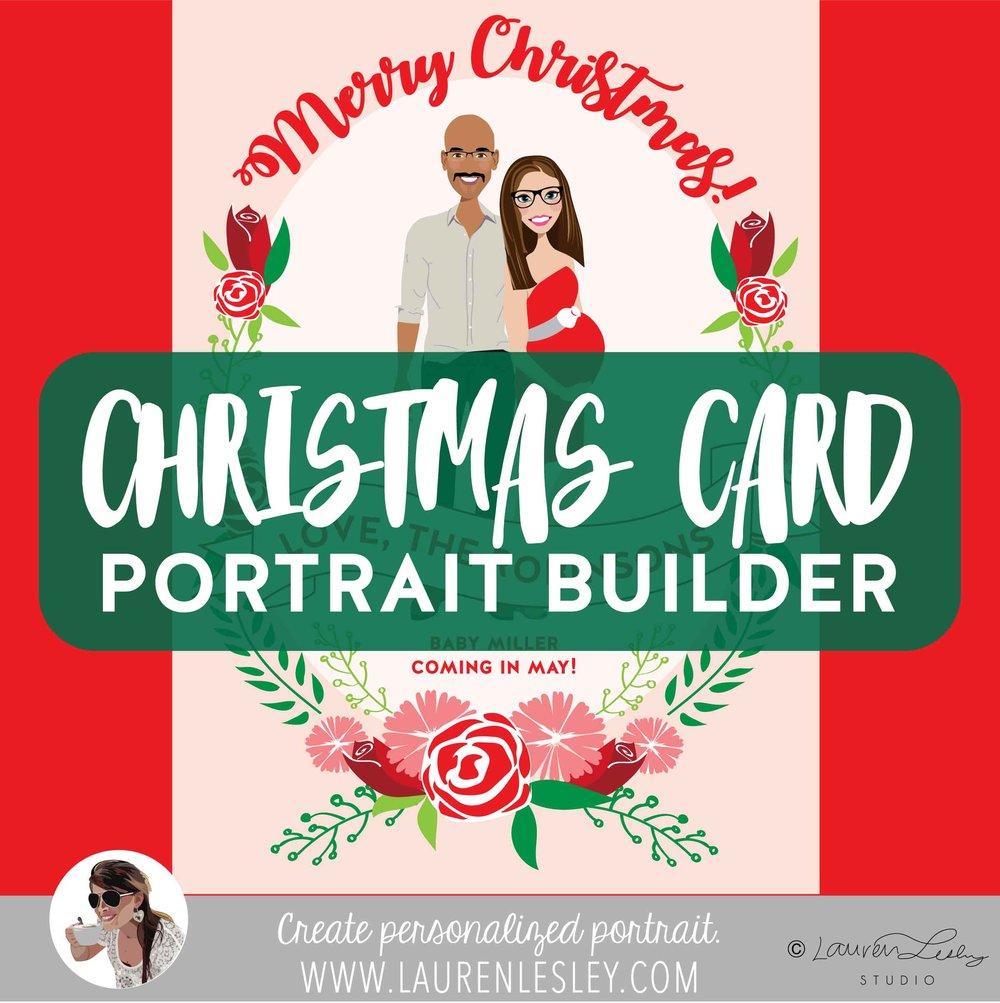 Christmas Card Family Portrait Builder