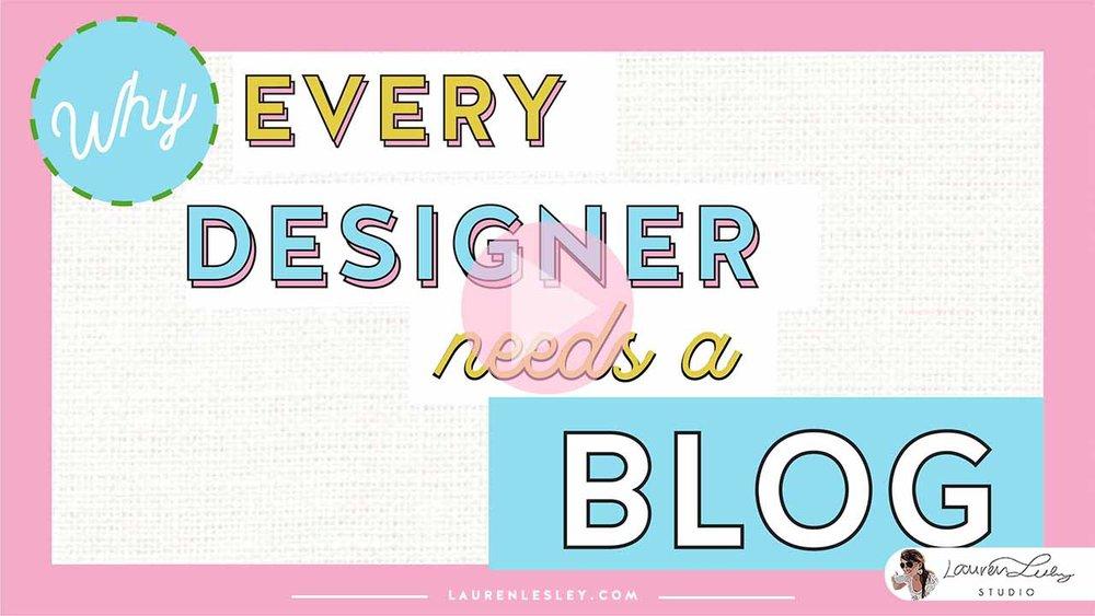 Why Every Designer Needs a Blog