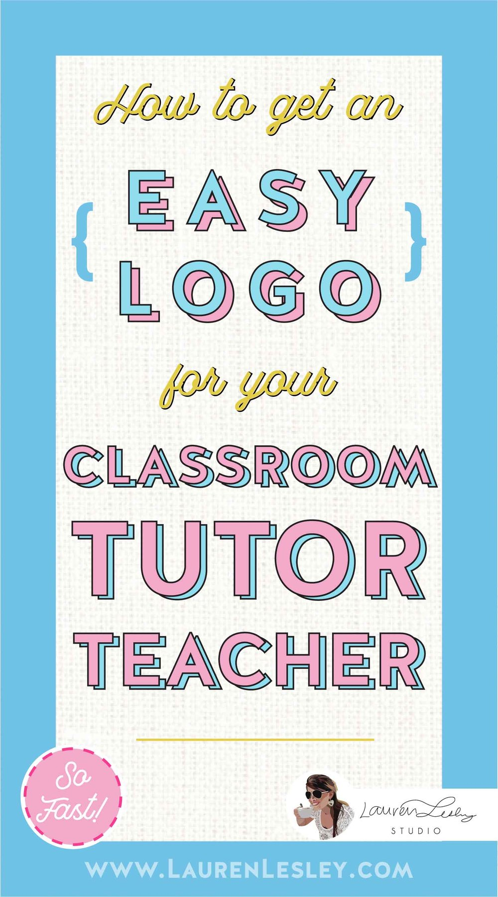 Get a Custom Classroom Tutor Teacher Logo