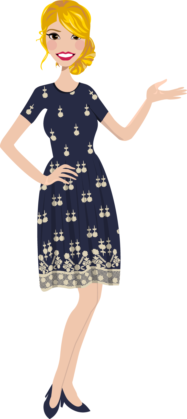 Final Design of Custom Portrait illustration - Here is the final design that Kelly approved. It is a beautiful vector illustration of her as a Business Woman.